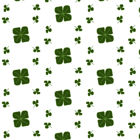 Clover fabric by ravynscache on Spoonflower - custom fabric