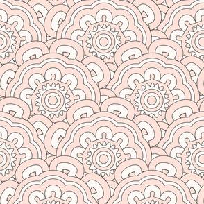 Etnic creamy pattern