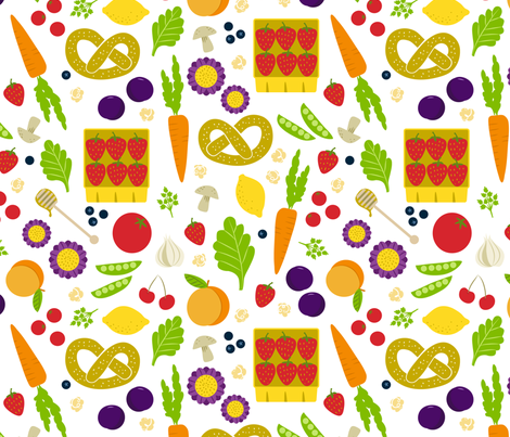 Springtime Market fabric by jenimp on Spoonflower - custom fabric