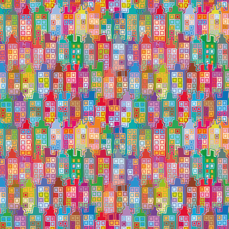 City-Day-1 fabric by cassiopee on Spoonflower - custom fabric