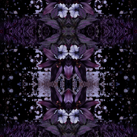 Night Garden fabric by smileslaughter on Spoonflower - custom fabric