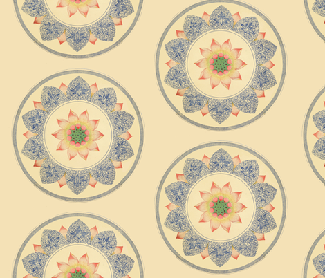 Peach Wheels fabric by ragan on Spoonflower - custom fabric