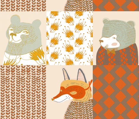 animal quilt fabric by mummysam on Spoonflower - custom fabric