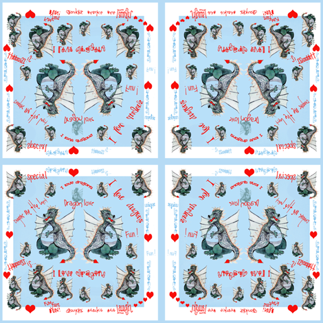I Love Dragons fabric by karenharveycox on Spoonflower - custom fabric