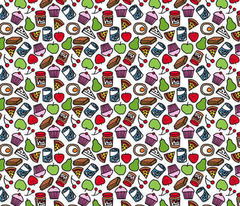 picnic fabric by lusykoror on Spoonflower - custom fabric
