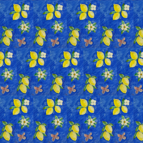 lemons fabric by vonblohn on Spoonflower - custom fabric