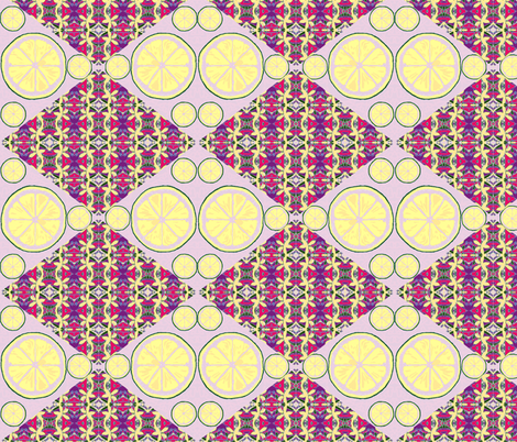 Lemons Double Tart Double Vision - lavender fabric by walkwithmagistudio on Spoonflower - custom fabric