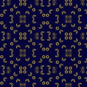 Moon and Stars Brocade