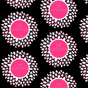 The Gatehouse Bloom in Fuchsia & Black