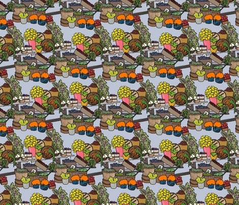 Farmers Market fabric by linsart on Spoonflower - custom fabric