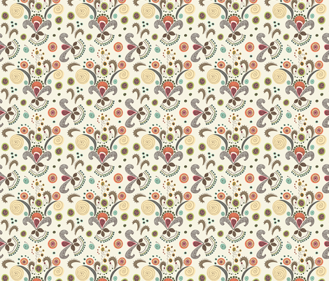 Wired Flower Pattern, Small fabric by janet_antepara on Spoonflower - custom fabric