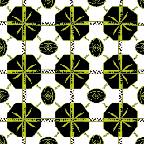 Chartreuse fabric by ravynscache on Spoonflower - custom fabric