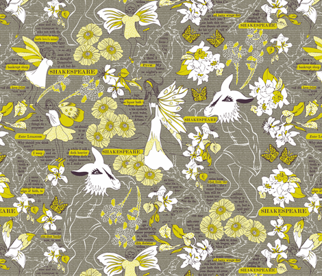 A Study of Shakespeare's Summer Dream fabric by mag-o on Spoonflower - custom fabric