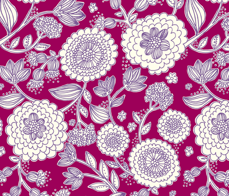 line_flower_purple fabric by stacyiesthsu on Spoonflower - custom fabric