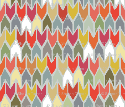 beach house ikat chevron large