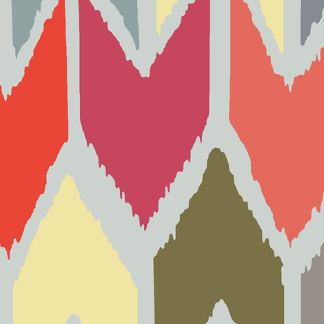 beach house ikat chevron large fabric by scrummy on Spoonflower - custom fabric