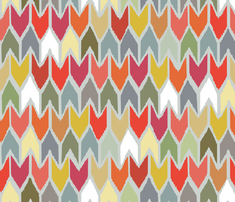 beach house ikat chevron small fabric by scrummy on Spoonflower - custom fabric