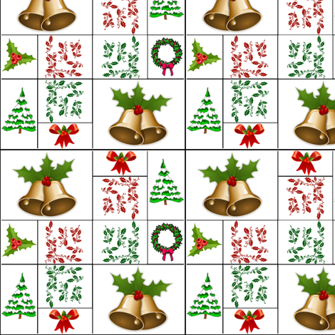 Symbols of Christmas fabric by ravynscache on Spoonflower - custom fabric