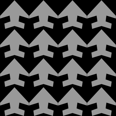 Airplane Tess grey fabric by blondfish on Spoonflower - custom fabric