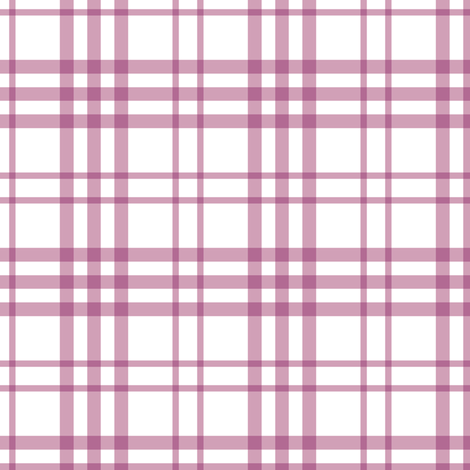 Alex Plaid ~ Purple fabric by peacoquettedesigns on Spoonflower - custom fabric