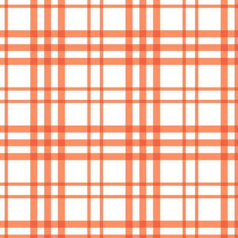Alex Plaid ~ Coral fabric by peacoquettedesigns on Spoonflower - custom fabric