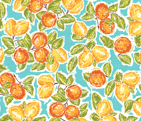 oranges and lemons fabric by cjldesigns on Spoonflower - custom fabric