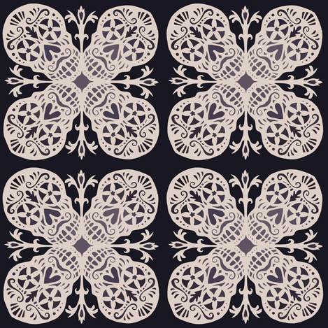 Calaveras Flake fabric by kitcameo on Spoonflower - custom fabric
