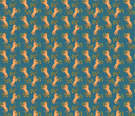 Orange Ponies fabric by ragan on Spoonflower - custom fabric