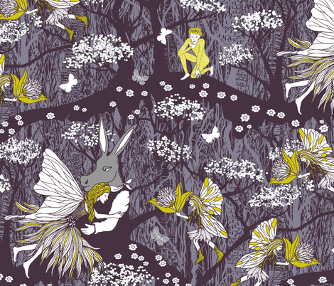 Away with the fairies fabric by kezia on Spoonflower - custom fabric