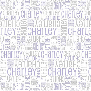 Personalised Fabric - Lt Purple and Grey