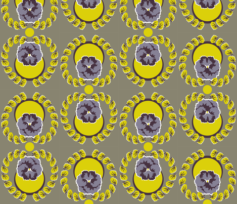 midsummer_pansies fabric by anderson_designs on Spoonflower - custom fabric