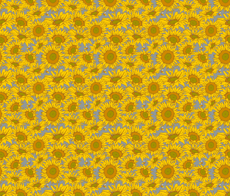 Sunflower Shower fabric by audsbodkin on Spoonflower - custom fabric