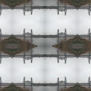Steel Bridge Mirrored Stripes