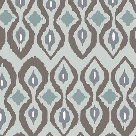 cool boardwalk ikat fabric by scrummy on Spoonflower - custom fabric