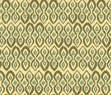 warm boardwalk ikat fabric by scrummy on Spoonflower - custom fabric