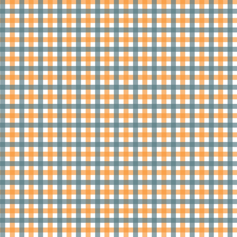 Orange Daisies Plaid fabric by ragan on Spoonflower - custom fabric