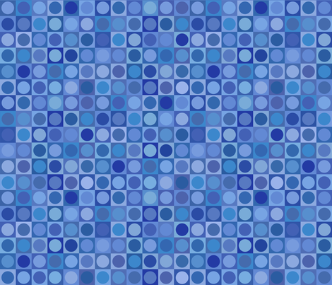 serene blue circles and squares fabric by weavingmajor on Spoonflower - custom fabric