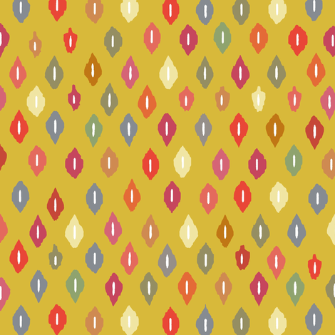 sunny little ikat diamonds fabric by scrummy on Spoonflower - custom fabric