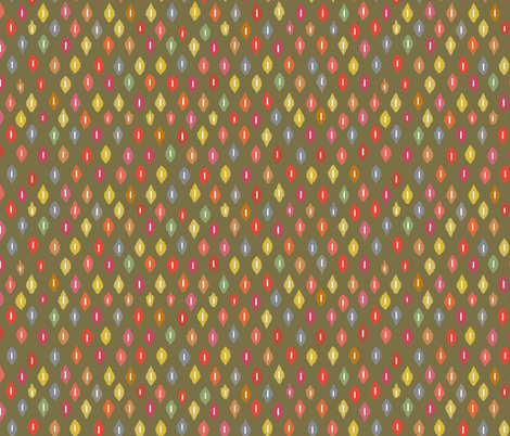 warm little ikat diamonds fabric by scrummy on Spoonflower - custom fabric
