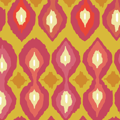 party boardwalk ikat fabric by scrummy on Spoonflower - custom fabric