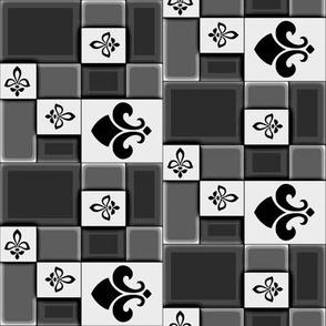 Checkerboard Fleur de Lys