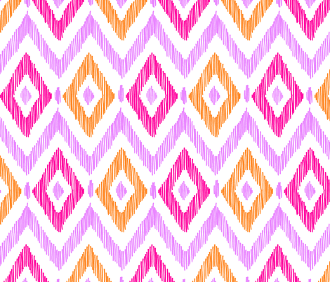 Diamond Ikat - Custom Color fabric by pattysloniger on Spoonflower - custom fabric