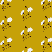 Cotton Plant (Retro Yellow)