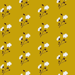 Cotton Plant (Retro Yellow 2)