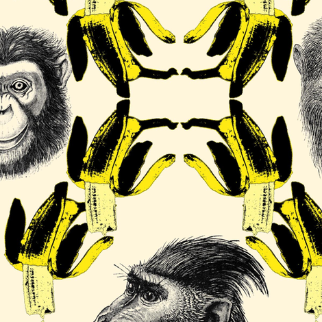bananas_and_monkeys fabric by susiprint on Spoonflower - custom fabric