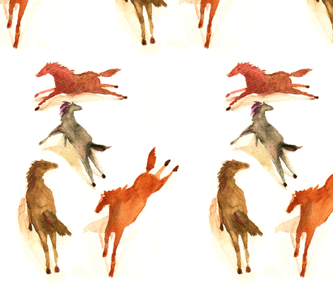 Big_Red_Horse fabric by crossing_sky on Spoonflower - custom fabric