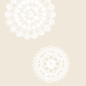 Shabby Chic Doilies - Wheat