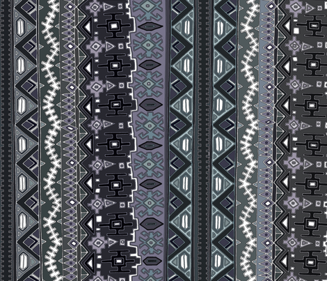 kilim castellations muted fabric by scrummy on Spoonflower - custom fabric