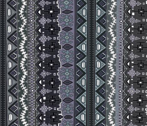 kilim castellations muted fabric by scrummy on Spoonflower - custom fabric