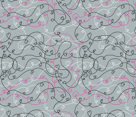 DoodleyDoo- Heart Lines fabric by cynthiafrenette on Spoonflower - custom fabric